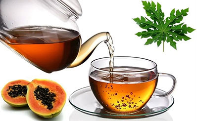 чай из папайи от кожных болезней