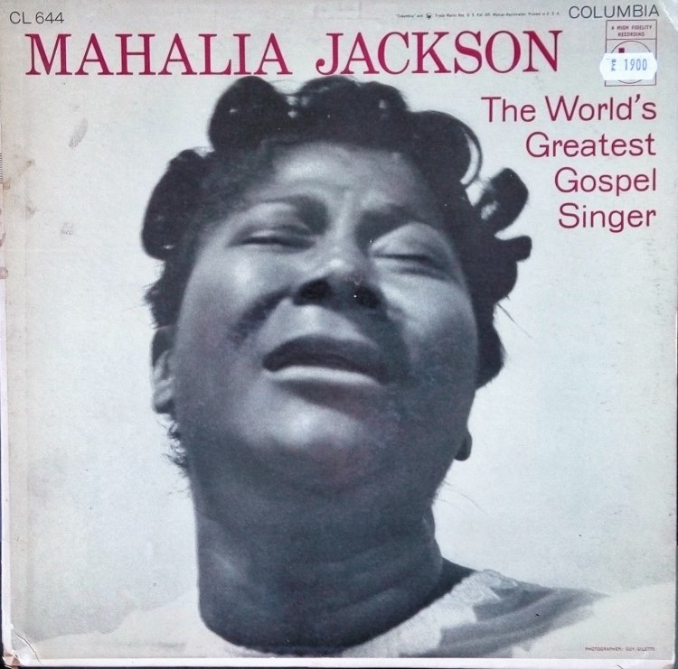 Виниловая пластинка, Mahalia Jackson, The world greatest gospel singer, CL 644. https://vk.com/album102025323_242468968